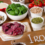 Absorption of iron by the body